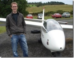 Mal about to enjoy his first flight in a glider