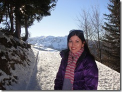 Beth, living it up in the French Alps